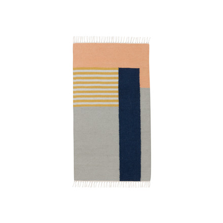 ferm living - Kelim Rug, white lines, small