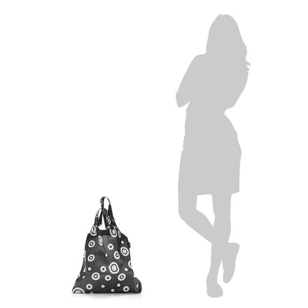 reisenthel - mini maxi shopper, bubbles anthracite