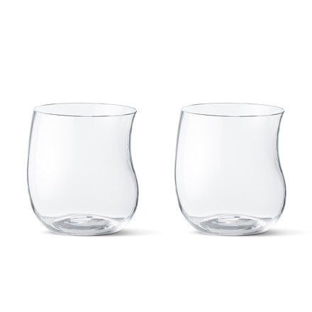 Georg Jensen - Cobra Drinking Glass 0.2 l (Set of 2 pieces), transparent