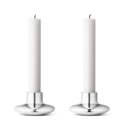 Georg Jensen - Henning Koppel Candlestick (set of 2), stainless steel
