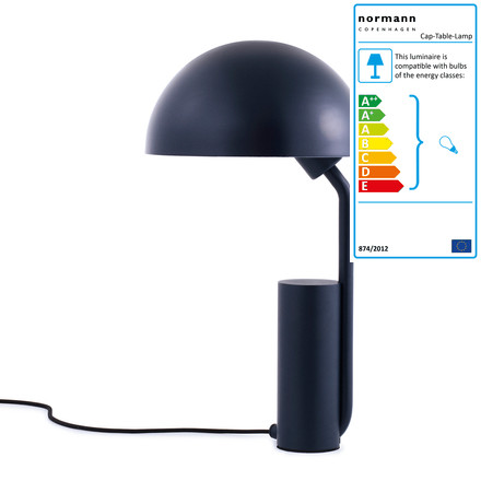 Normann Copenhagen - Cap Table Lamp, midnight-blue