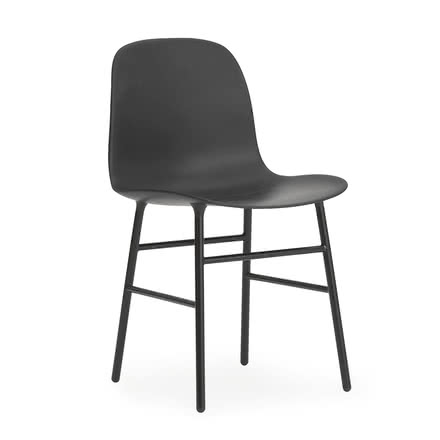 Normann Copenhagen - Form Chair, Steel Legs, black