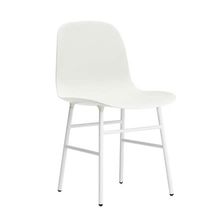 Normann Copenhagen - Form Chair, Steel Legs, white