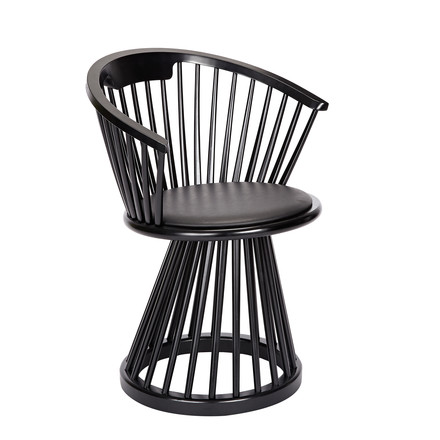 Fan Dining Chair by Tom Dixon made of black oak
