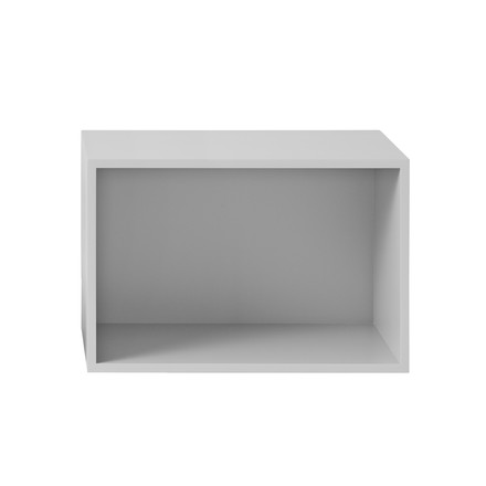 Muuto - Stacked Shelving System with backboard, large, light grey