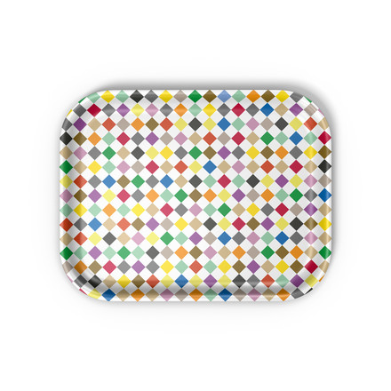 Vitra - Classic Tray medium, Diamonds multicolour