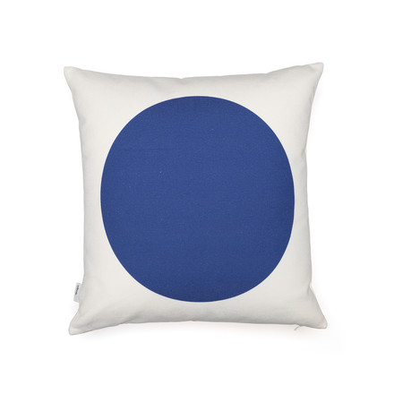Vitra - Graphic Print Pillow - Rectangles / Circle 40 x 40 cm, red / blue, blue side