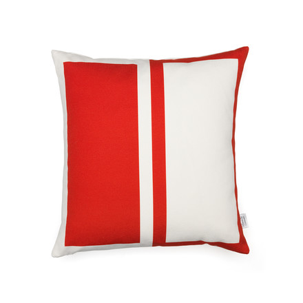 Vitra - Graphic Print Pillow - Rectangles / Circle 40 x 40 cm, red / blue, red side