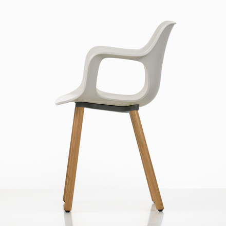 Hal Wood Armchair by Vitra in white made of solid oak (bright) with felt glides (white)