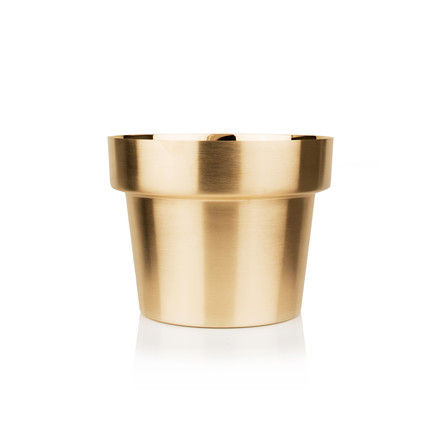 Skultuna - Flower Pot small, brass brushed