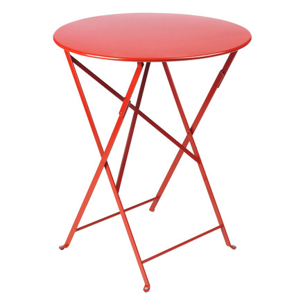 Bistro Folding Table Ø 60 cm by Fermob in Poppy Red