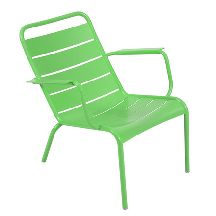 Fermob - Luxembourg Low Armchair, stackable, grass green - single image