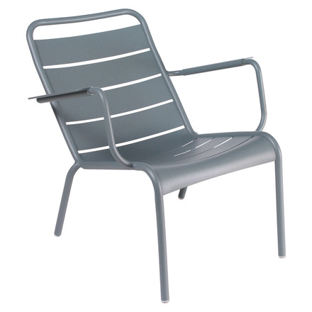 Fermob - Luxembourg Low Armchair, stackable, thunderstorm-grey - single image