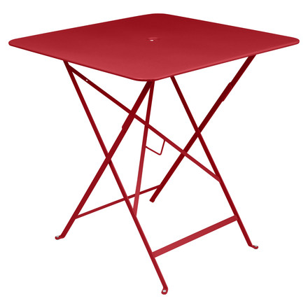 Bistro Folding Table 71 x 71 cm by Fermob in Poppy Red