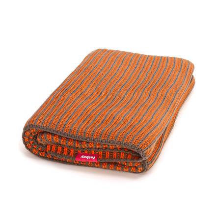 Fatboy - Klaid blanket, taupe / neon orange
