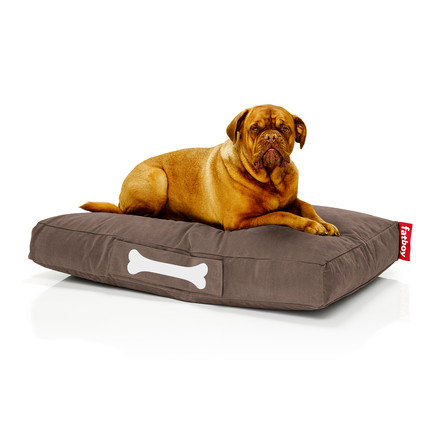 Fatboy - Doggielounge Stonewashed, large, brown, with dog