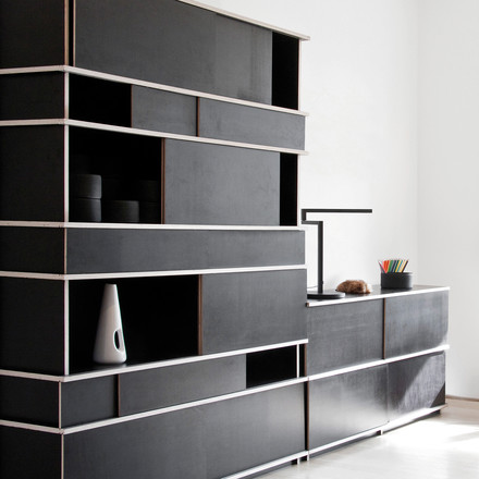 Objekten - Slide Cupboard, Slide Sideboard, black