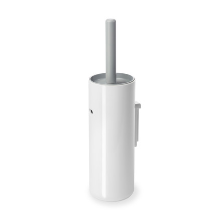 Authentics - Lunar toilet brush wall mounted, white / grey