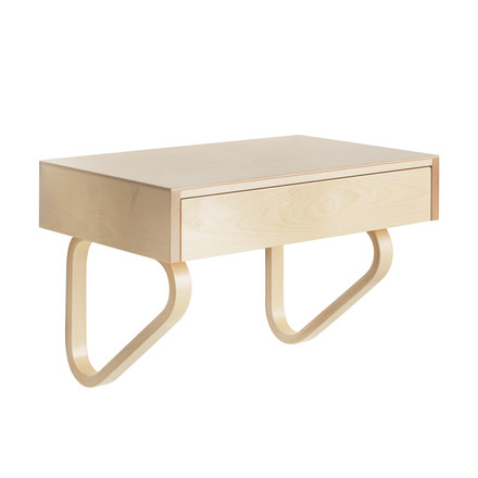 Artek - 114B Wall Drawer, natural birch / natural lacquered, closed