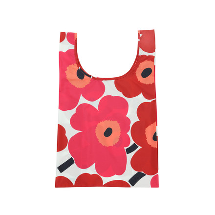 Marimekko - Pieni Unikko Tote Bag, white / red