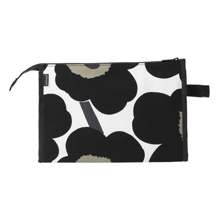 Marimekko - Pieni Unikko Media Markiisi Cosmetic Bag, white / black