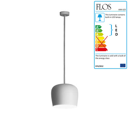 Flos - AIM Small LED Pedant Lamp Fix, white