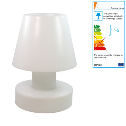 Bloom! Portable Lamp LED - 56 cm, rechargeable battery, white