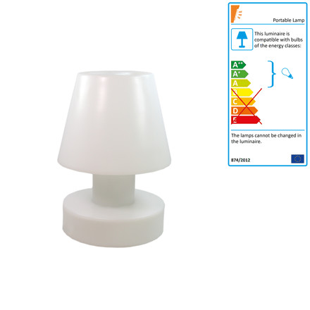 Bloom! Portable Lamp LED - 40 cm, rechargeable battery, white