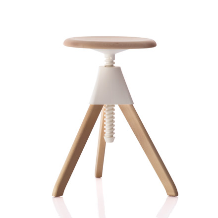 Magis - Jerry The Wild Bunch Stool (50-60 cm), white