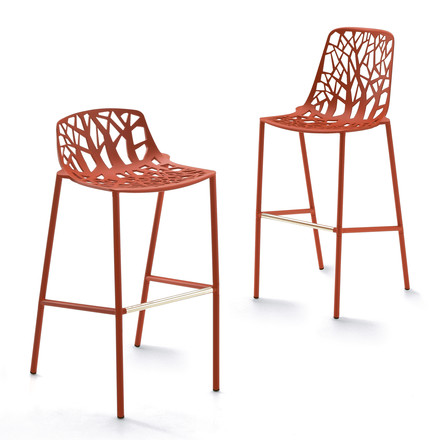 Fast - Forest bar stool, coral