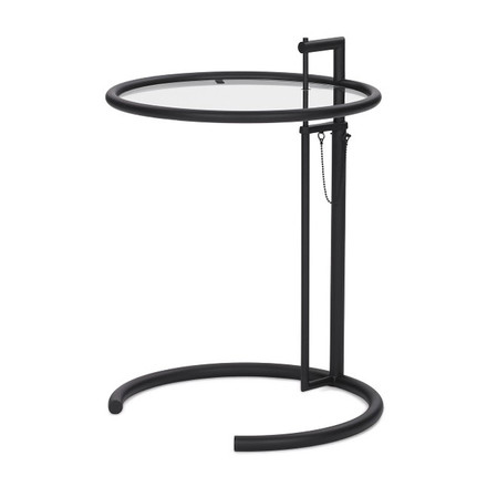 ClassiCon - Adjustable Table E1027, black / crystal glass