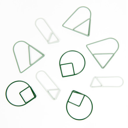 Areaware - Paper Clips, green (set of 9)
