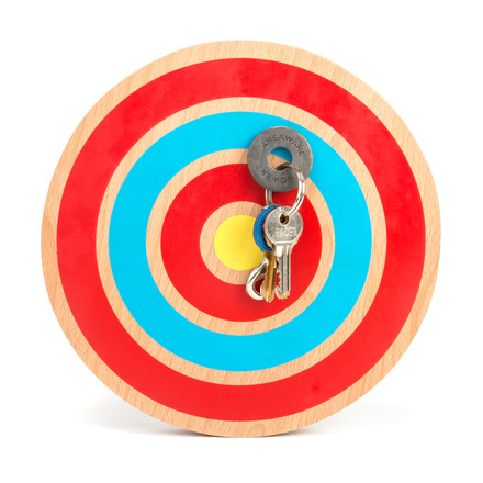 Areaware - Key Target in red