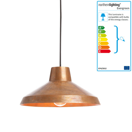 northernlighting - Evergreen Pendelleuchte, small, copper