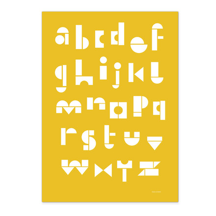 Snug - snug.abc Poster, warm yellow