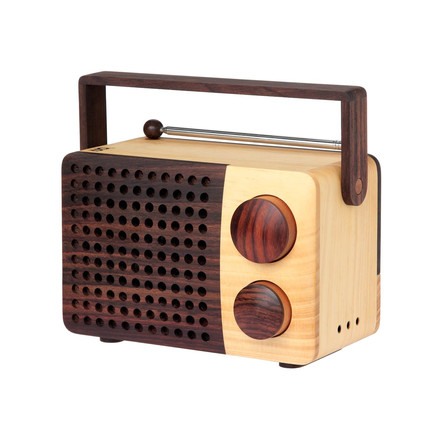 Wooden radio by Magno in natural rosewood