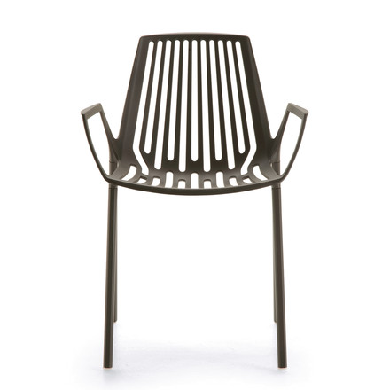 Fast - Rion armchair, grey metallic