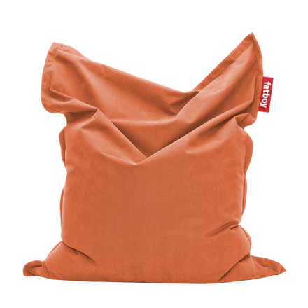 Original stonewashed beanbag by Fatboy in orange