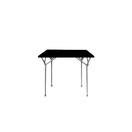 Magis - Officina dining table 90 cm, zinc-plated / black