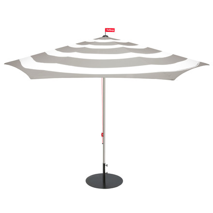 Fatboy - Stripesol parasol by Fatboy with base in light grey