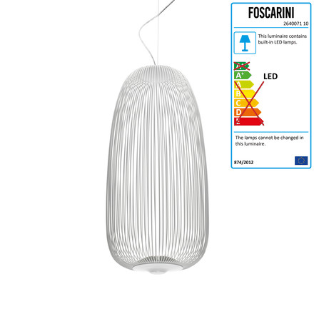 Foscarini - Spokes LED-Pendant Luminaire 1 in white