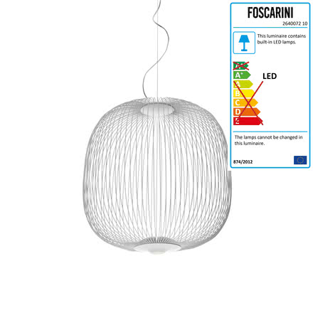Foscarini - Spokes LED-Pendant Luminaire 2 in white