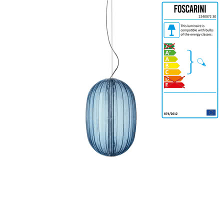 Foscarini - Plass media Pendant Luminaire, azure