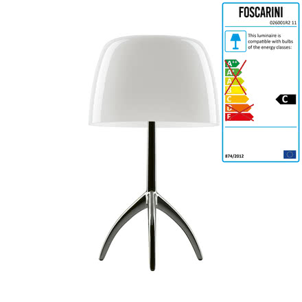 Foscarini - Lumiere 05 Grande Table Lamp without dimmer, aluminium / white