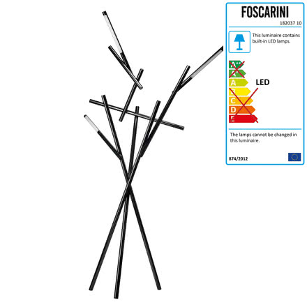 Foscarini - Tuareg Floor Lamp in black