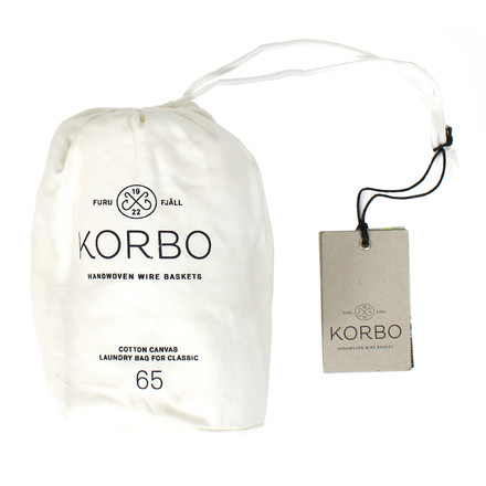 Korbo - Laundry Bag 65, white - single image