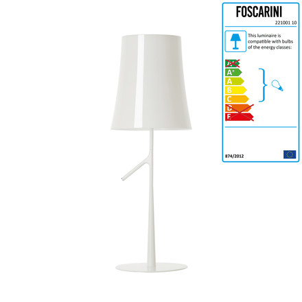 Foscarini - Birdie Grande Table Lamp with dimmer, white