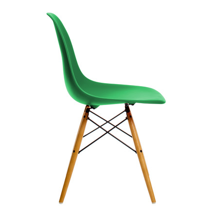 Vitra - Eames Plastic Side Chair DSW, yellowish maple / classic green