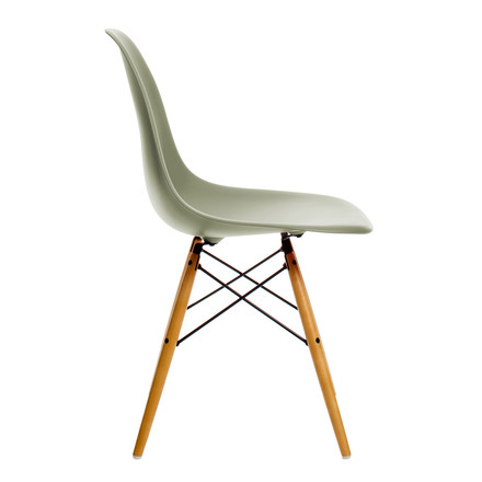 Vitra - Eames Plastic Side Chair DSW, yellowish maple / moss grey