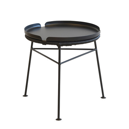 OK Design - Centro Table, black / Tray, black